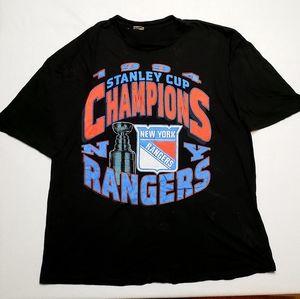 1994 Vintage Rangers Stanley Cup NHL tee shirt